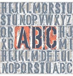 vintage letterpress printing blocks set vector image