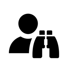 Finding employees icon vector image
