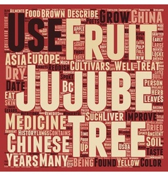 History of the jujube tree text background vector