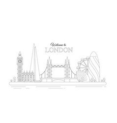 line design london concept vector image