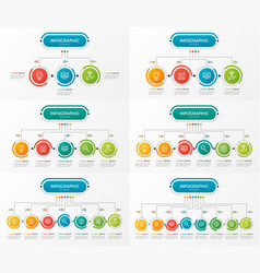 set of presentation business infographic templates vector image