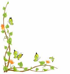 vine and butterflies vector image vector image