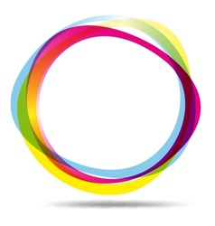 Colorful ring logo vector