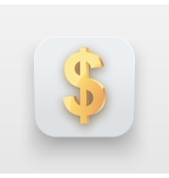 Money icon Symbol of Gold Dollar vector image vector image