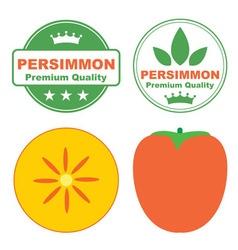 Persimmon vector image vector image