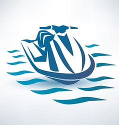 water scooter vector image