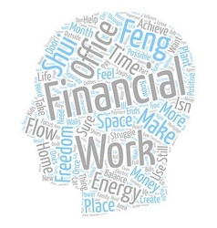 How To Create Financial Freedom text background vector image vector image