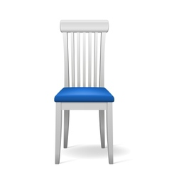 isolated chair vector image vector image