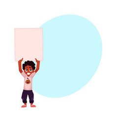 little black african american boy kid holding vector image vector image