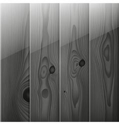 Realistic grey wood boards texture vector image
