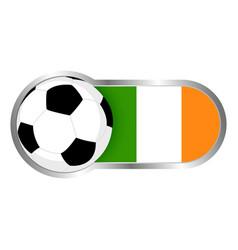 republic of ireland soccer icon vector image vector image