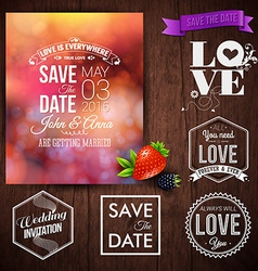 Save the date for personal holiday cards Wedding vector image