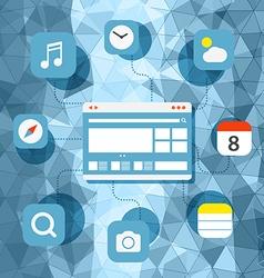 Web browser information transfer concept vector image vector image