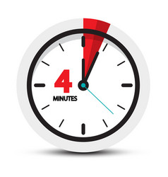 4 minutes clock icon four minute symbol vector image