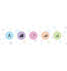 5 geometric icons vector