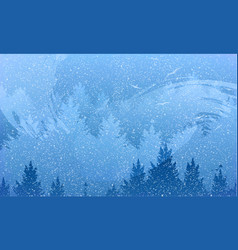 abstract background of forest and mountains with vector image
