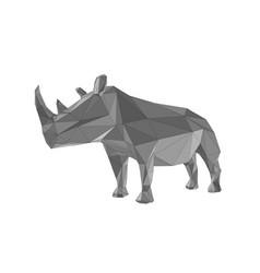 Abstract rhinoceros isolated vector
