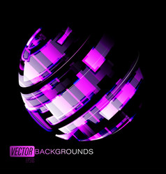 Abstract round colors on a black vector