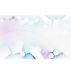 Abstract white geometric technology background vector