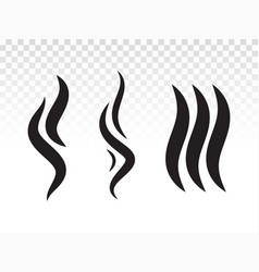 Bbq smoke flame or scent fumes steam icon vector