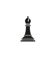 Bishop of chess icon black toy success vector