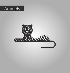 Black and white style icon tiger vector