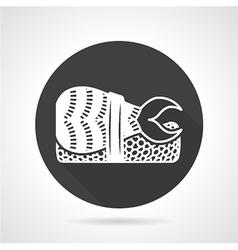 Black round icon for nigiri sushi vector image