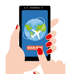 Booking holidays online vector