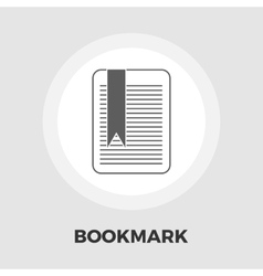 Bookmark flat icon vector image