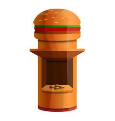 burger kiosk icon cartoon style vector image