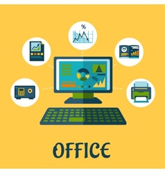 Business and office concept design vector image