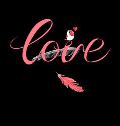 calligraphic inscription love vector image