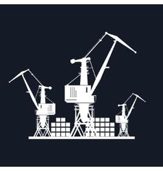 Cargo Cranes Isolated on Black vector