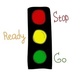 Cartoon traffic lights vector image