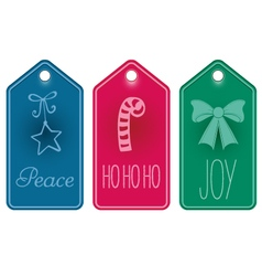 Christmas icon and text tags vector