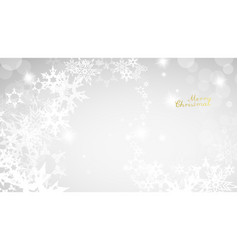 christmas light background with white snowflakes vector image