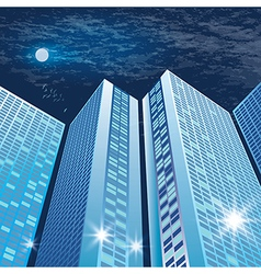 City architecture at night vector image