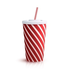 Cola Striped Glass vector image