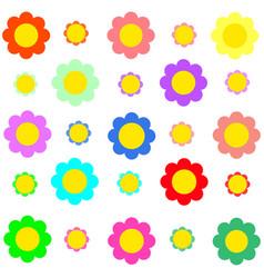 colorful flower on transparent background vector image