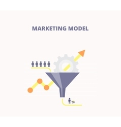 Concept of marketing model vector