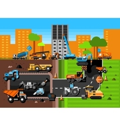 Construction machines composition vector