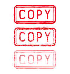 Copy stamp red rectangular impress vector