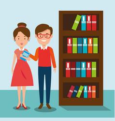 couple teachers in the classroom vector image