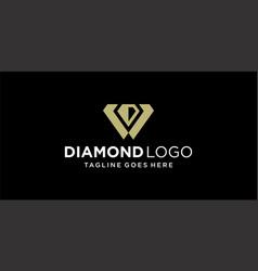 creative diamond logo design inspiration vector image