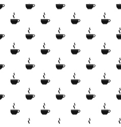 Cup of hot drink pattern simple style vector