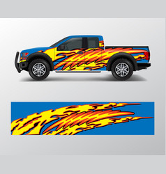 Custom livery race rally offroad car vehicle vector