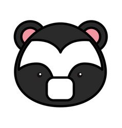 cute skunk woodland animal vector image