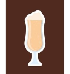 Delicious milkshake cup vector