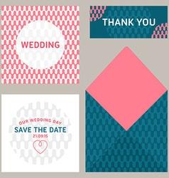 design template wedding invitation vector image