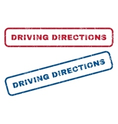 Driving Directions Rubber Stamps vector